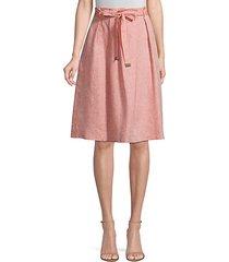 paperbag waist linen skirt