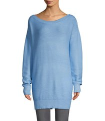 textured off-the-shoulder sweater dress