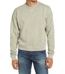 men's john elliott men's folcom cotton crewneck sweatshirt, size xx-large - green
