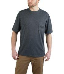wolverine men's short sleeve graphic pocket tee- wolverine graphic granite, size xl