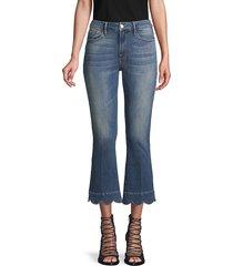 frame denim women's le crop mini boot scalloped jeans - mt snow - size 25 (2)