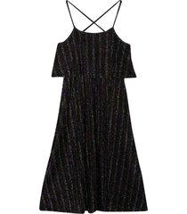 sonia rykiel enfant black striped dress