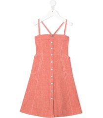 bonpoint denim dress - pink