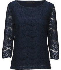 anastacia blouse blouse lange mouwen blauw minus