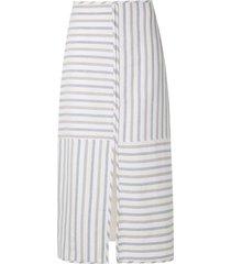 framed maya pencil skirt - neutrals
