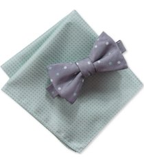 ryan seacrest distinction men's palmer 2-pc. pre-tied dot bow tie & pocket square set, created for macy's