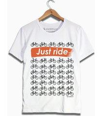 camiseta bicicletas mandrac branca - branco - masculino - algodã£o - dafiti