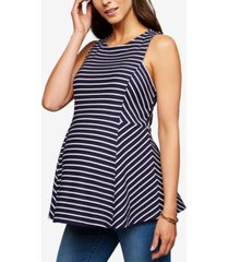 a pea in the pod maternity striped peplum top