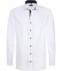 eterna heren overhemd fijn oxford classic kent borstzak