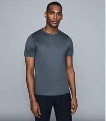 reiss balham - mercerised crew neck t-shirt in airforce blue, mens, size xxl