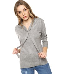 sweater gris ted bodin lazo