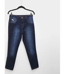 calça jeans biotipo alice plus ize skinny midi feminina