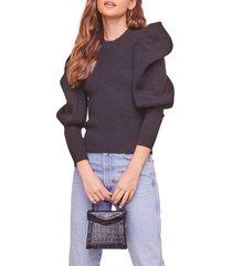 women's astr the label elina sweater, size large - black