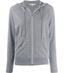 filippa k zip-up cashmere hoodie - grey