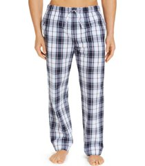 club room men's plaid cotton pajama pants, created for macy's