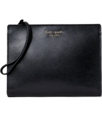 kate spade new york spencer leather wristlet with gusset