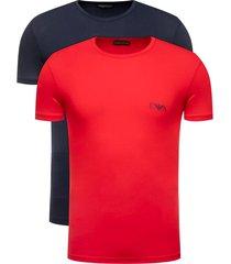 emporio armani 2-pack t-shirts crew neck - rood/zwart