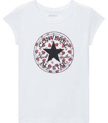 converse camiseta de manga corta berry print chuck taylor patch white