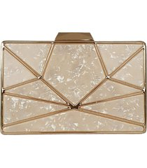 bolsa bag dreams clutch em madrepérola nency dourada