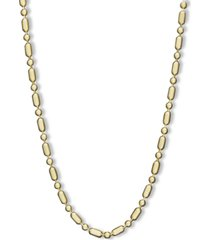 "14k gold necklace, 24"" dot dash chain (1mm)"