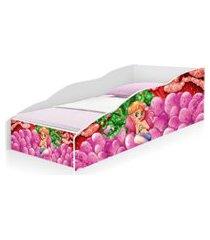 cama solteiro play sereia rosa casah