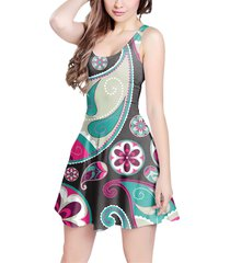 sassy paisley sleeveless dress