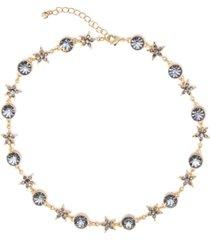 "rachel rachel roy gold-tone crystal star celestial collar necklace, 16"" + 3"" extender"
