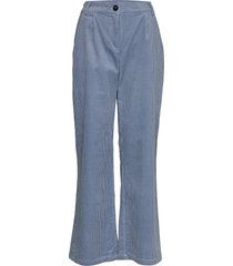 pants in cordery w. press folds wijde broek blauw coster copenhagen