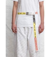 pasek buckle belt white tapes