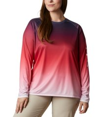 columbia plus size pfg super tidal printed active t-shirt