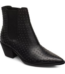 biacyra leather studs boot shoes boots ankle boots ankle boots with heel svart bianco