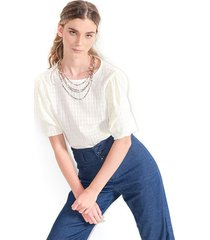 blusa para mujer en algodon color-blanco-talla-l