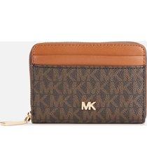 michael michael kors women's mott coin card case - brown/acorn