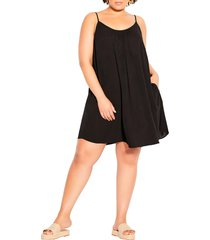 city chic vacation trapeze dress, size x-large in black at nordstrom
