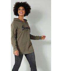 sweatshirt angel of style kaki::zwart