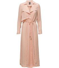 heaven jacket dunne lange jas roze twist & tango