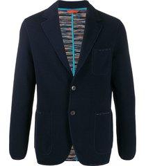 missoni knit blazer - blue