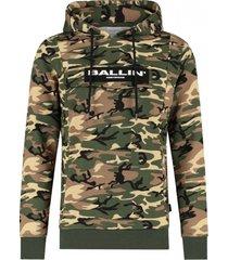 ballin amsterdam camouflage anorak hoodie groen