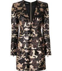 camouflage sequin dress