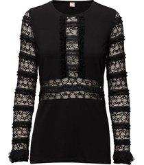 annli blouse lange mouwen zwart custommade