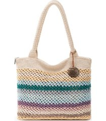 the sak women's crafted essentials crochet large tote, created for macy's