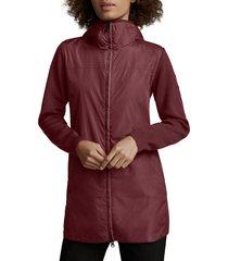 women's canada goose windbridge mixed media hooded jacket