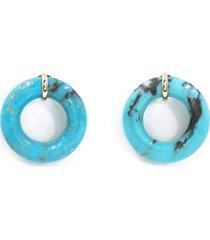 cotton candy munchkin earrings