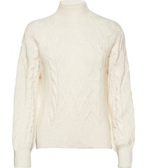 anf womens sweaters stickad tröja creme abercrombie & fitch