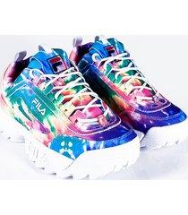 akira fila womens disruptor ii chunky sneaker in tie dye