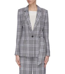 'belair' check belted blazer