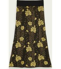 scotch & soda knitted jacquard pattern midi skirt
