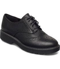 witcombe echo snörade skor låga svart clarks
