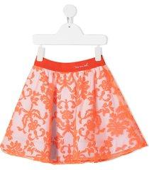 mi mi sol lace overlay skirt - orange
