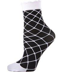 maxi net overlay women's anklet socks